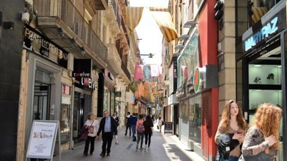 Lleida calle comercial